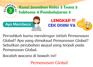 Kunci Jawaban Kelas 3 Tema 3 Subtema 4 Pembelajaran 3 www.simplenews.me