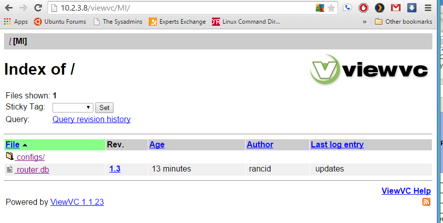 Chronic Geekage: Rancid, Cisco networking device config