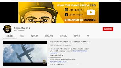 Youtuber Gaming Free Fire - LETDA HYPER