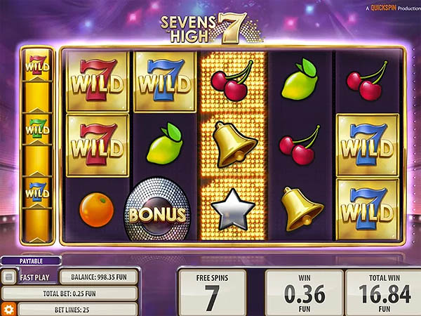 Main Slot Gratis Indonesia - Sevens High (Quickspin)