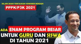 Ada 6 Program Besar Dari Menteri Untuk Guru dan Siswa Tahun 2021