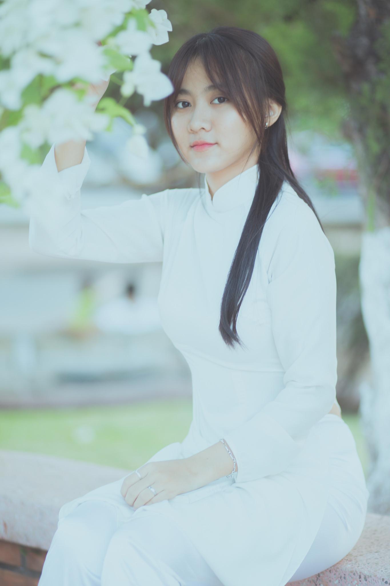 Tuyển tập girl xinh gái đẹp Việt Nam mặc áo dài đẹp mê hồn #60 - 11
