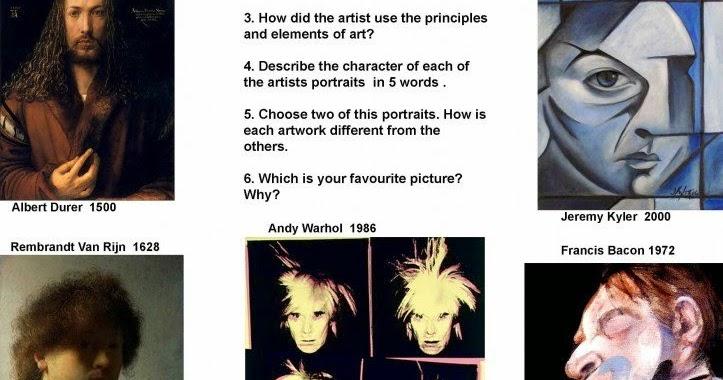 ARTimus Prime 8th SelfPortraits – Self Portrait Worksheet