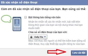xác nhận tài khoản Facebook 3