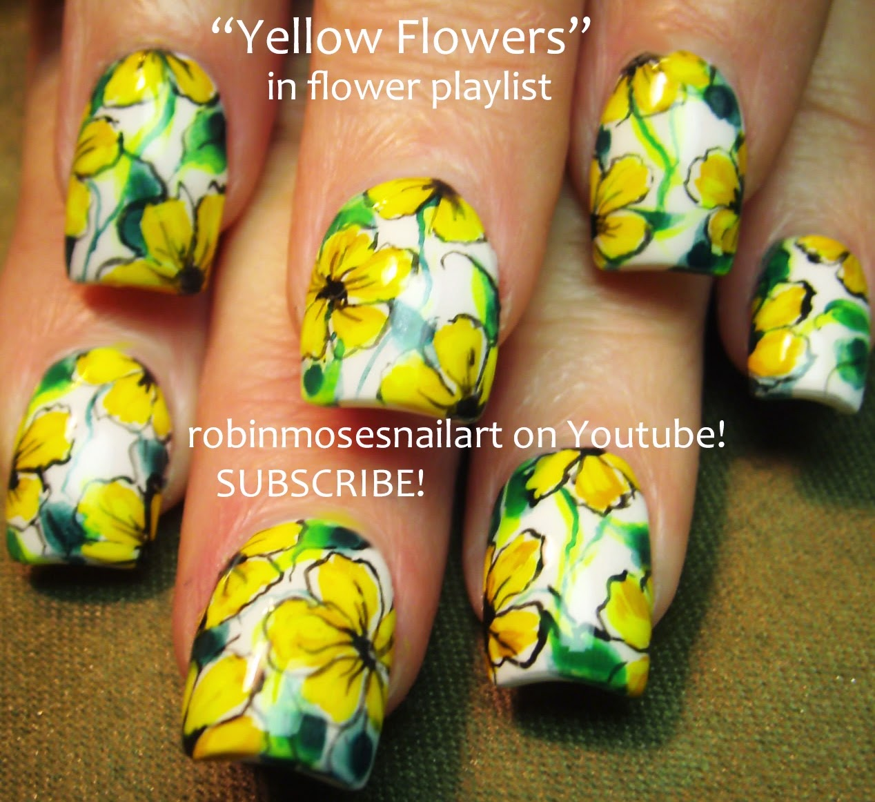 Robin Moses Nail Art: Yellow Nail Art Designs To Wear For
