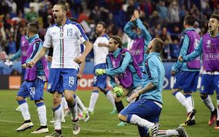 Taklukkan Belgia 0-2, Italia Pimpin Klasemen Grup E Piala Eropa 2016