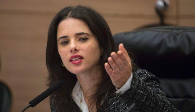 La ministra de Justicia Ayelet Shaked