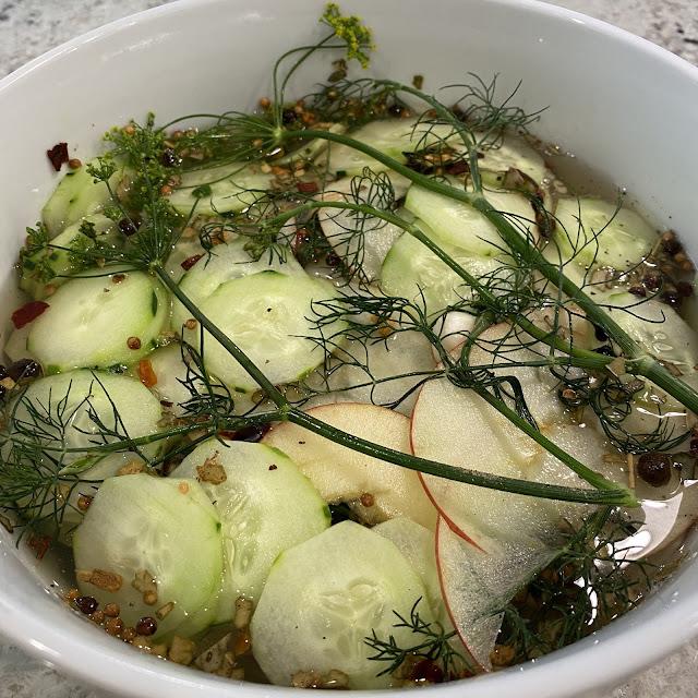 Quick Pickling – Kohlrabi and Apple