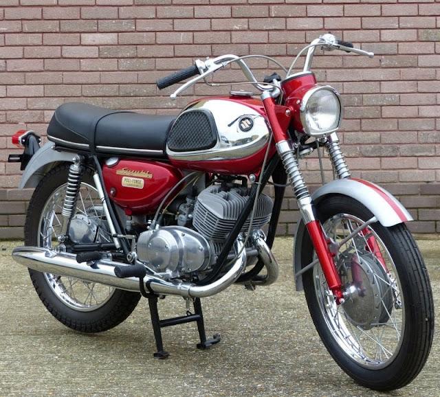 Suzuki T20 Super Six 1960s Japanese classic motorcycle