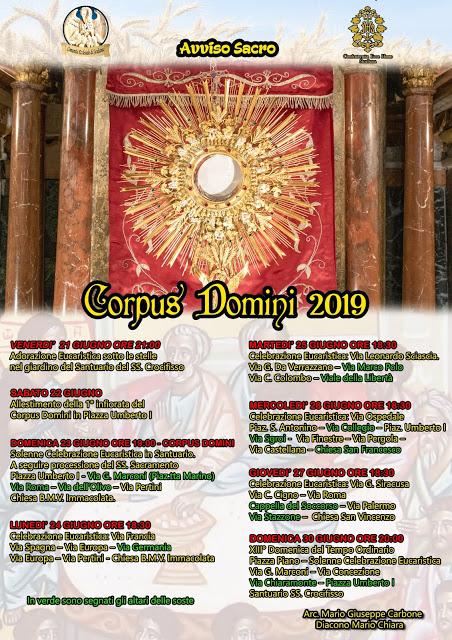 Comunità ecclesiale, Corpus Domini 2019