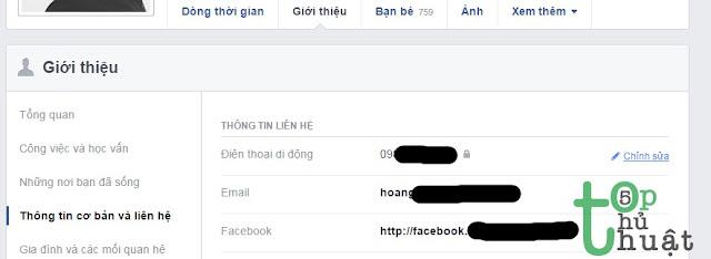 Ẩn số điện thoại trên Facebook