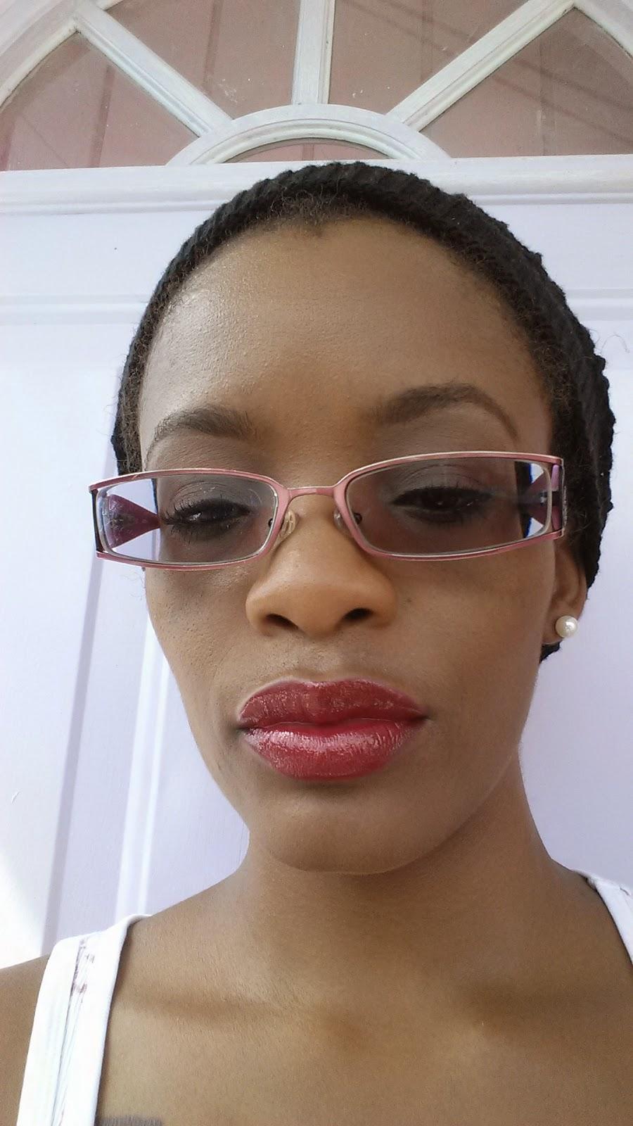 Revlon Lip Butter 'Cherry Tart 'and Jordana Lipliner 'Cabaret' swatch - www.modenmakeup.com