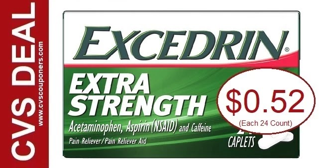 Excedrin CVS Couponers Deal 8-29-9-4