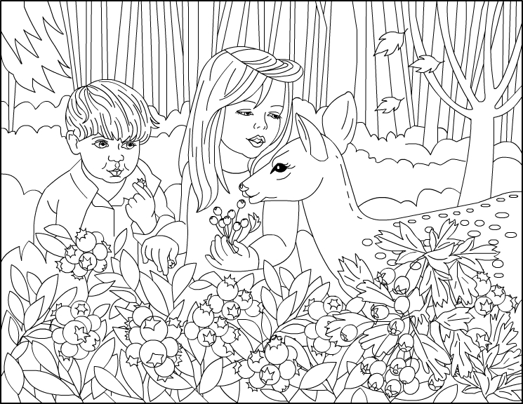 Adult coloring pages forest ~ Nicole's Free Coloring Pages: Autumn in the Magical Forest ...
