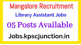 Mangalore University Recruitment 2020 notification Walk-in-Interview for 5 Library Assistant Posts at Mangalore university.ac.in