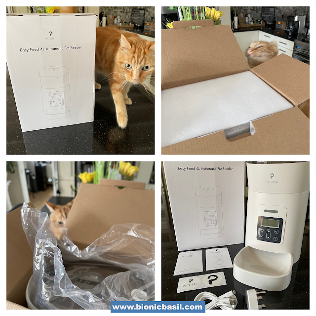 What's In The Box ©BionicBasil® Petlibro Easy Feed Automatic Pet Feeder