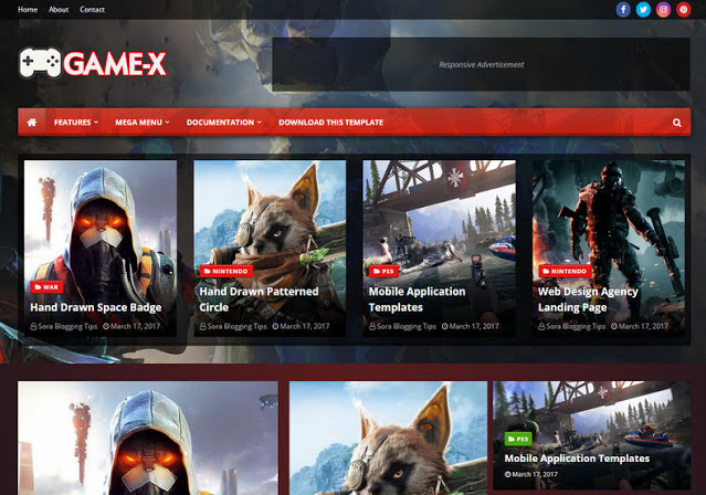 Game X Template Blog