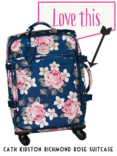 cath kidston richmond rose suitcase