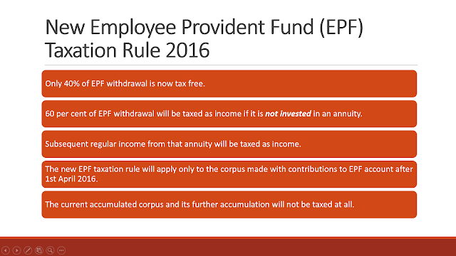 EPF is not tax free, 60% of money will be taxed as income