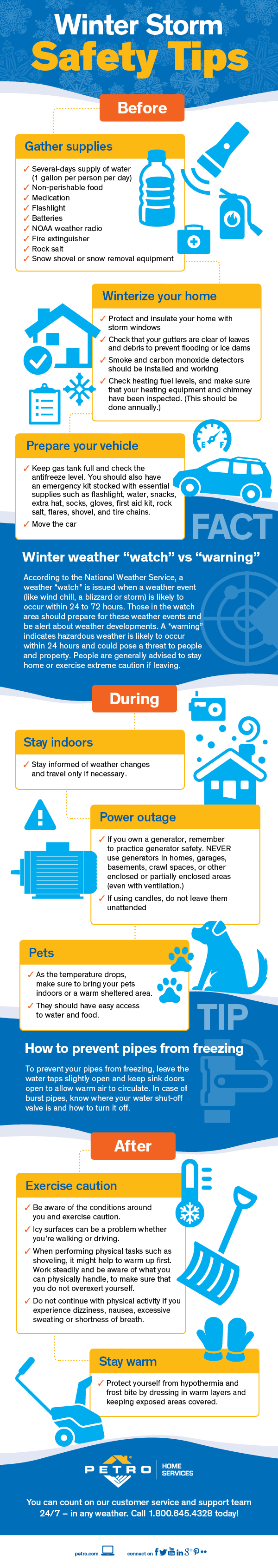 Winter Storm Safety Tips #infographic