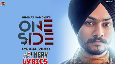 One Side By Himmat Sandhu - Lyrics