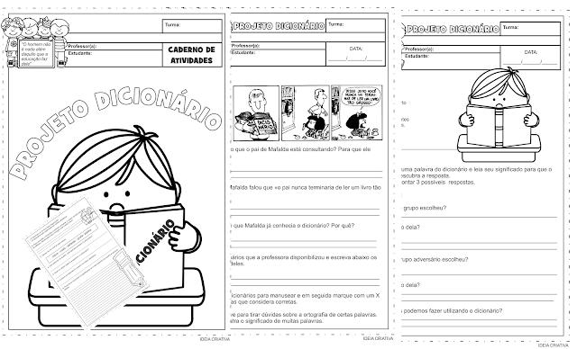 Caderno de Atividades Projeto Dicionário