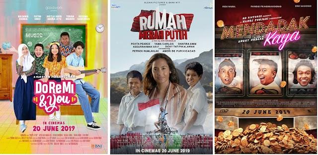 Tiga Judul Film Indonesia Tayang 20 Juni 2019