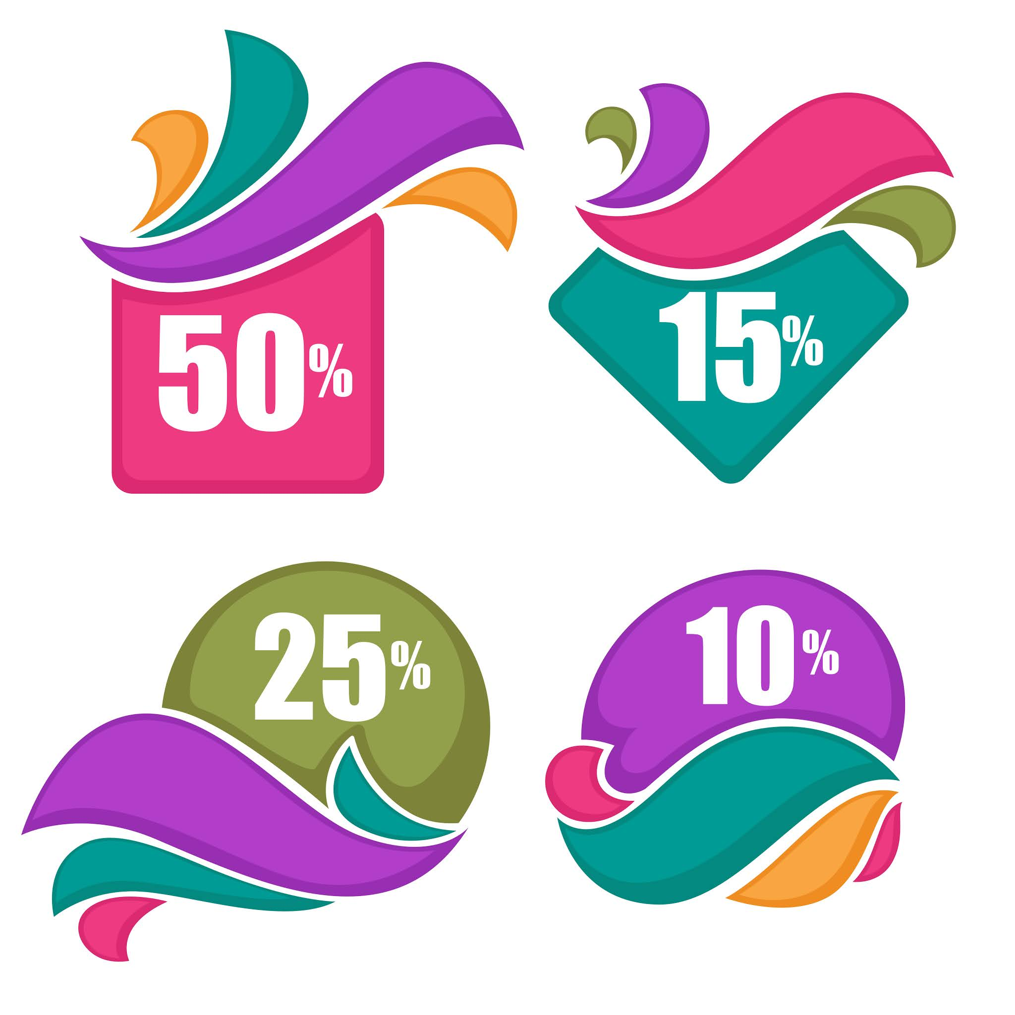 Download discount icons and discount offers with the highest quality for web and print