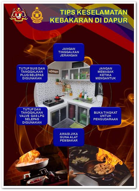 Tips keselamatan kebakaran di dapur