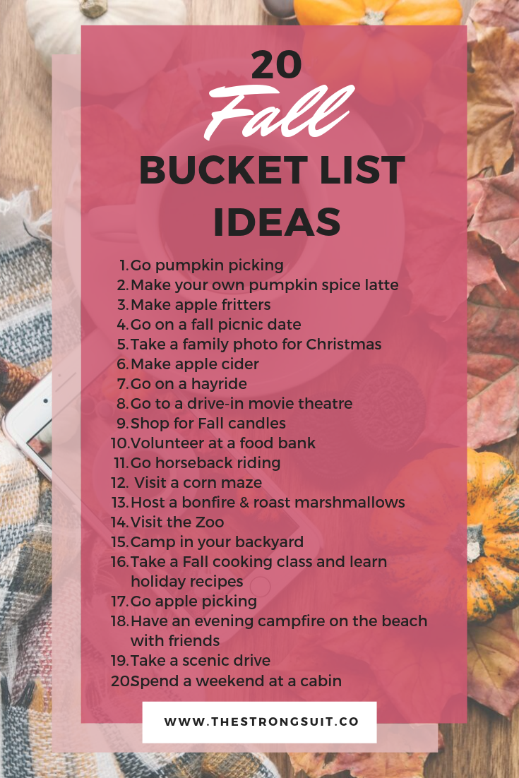 fall bucket list ideas, pumpkin patch, pumpkin spice latte, fall activities, fall fun, things to do during fall