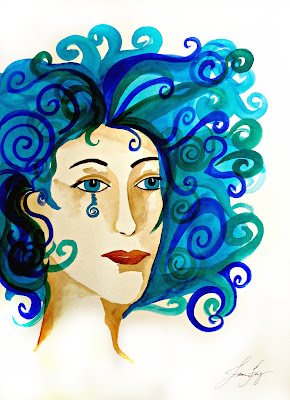 Water Warrior Original Watercolor Painting 30 Warrior Women in 30 Days
