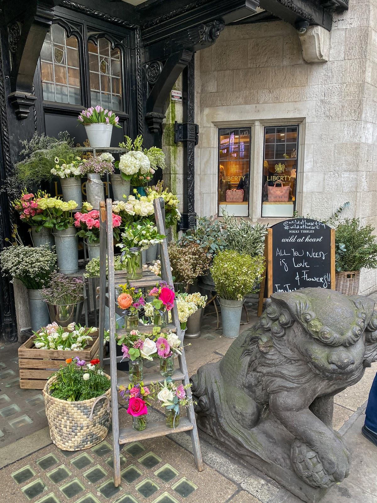 liberty london flower display