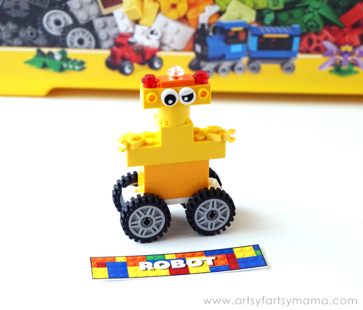 #KeepBuilding with Free Printable LEGO Brick-tionary Game at artsyfartsymama.com