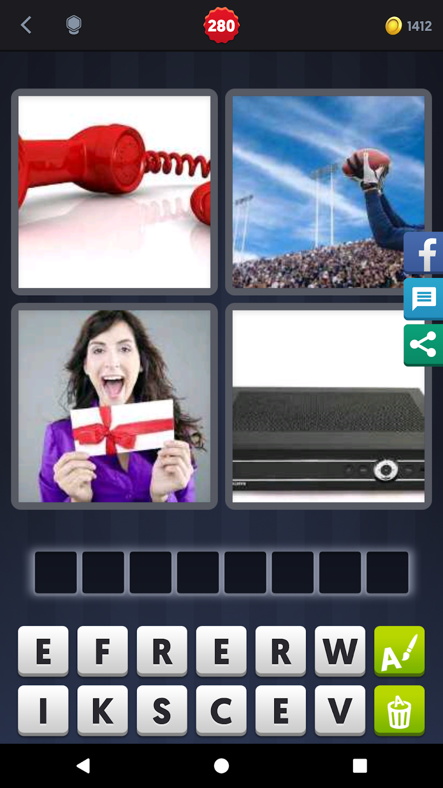4 Pics 1 Word Answers Solutions Level 280 Receiver