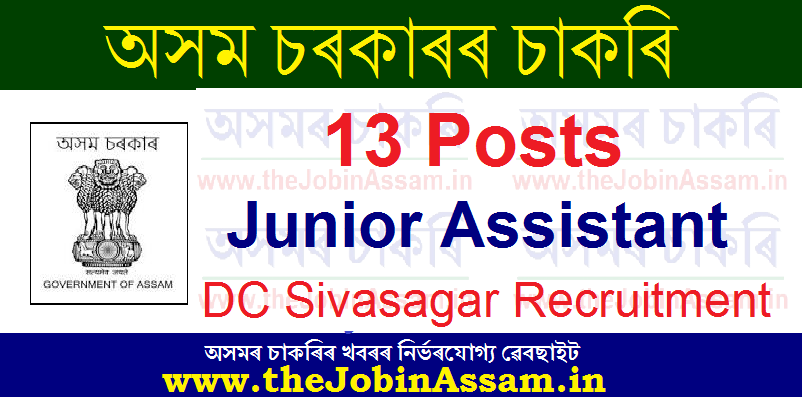 Deputy Commissioner, Sivasagar Recruitment 2020