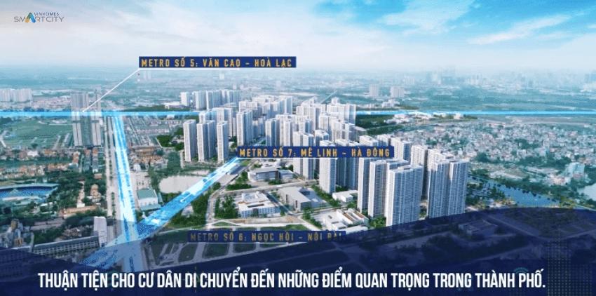 Vinhomes Smart City hạ tầng giao thông kết nối đồng bộ