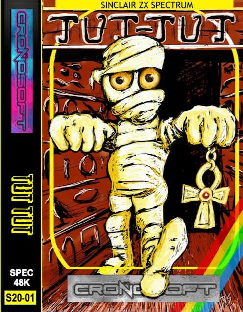 ZX Spectrum TuT-TuT 2020 Cassette Cover Art