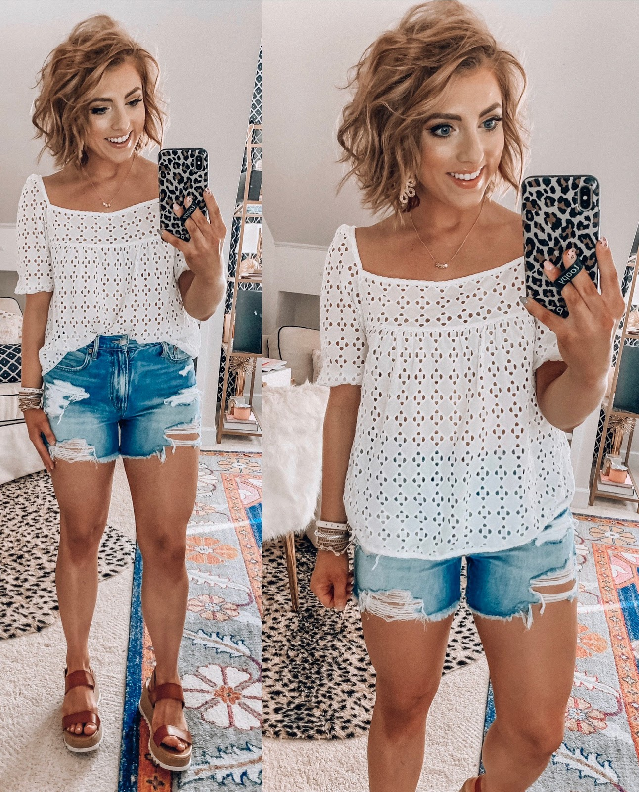 Spring American Eagle Finds - Something Delightful Blog #SpringStyle #AmericanEagle #AffordableFashion #AffordableDenim #PetiteStyle #Eyelet