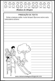 Dia das crianças  produção de texto