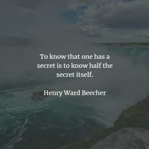 Secrets quotes and sayings that will enlighten you