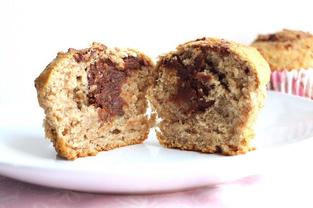 Vegan Nutella filled banana muffins recipe