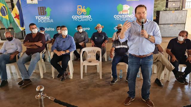 Presidente Alex Redano prestigia lançamento de obras e ações do Governo em Costa Marques