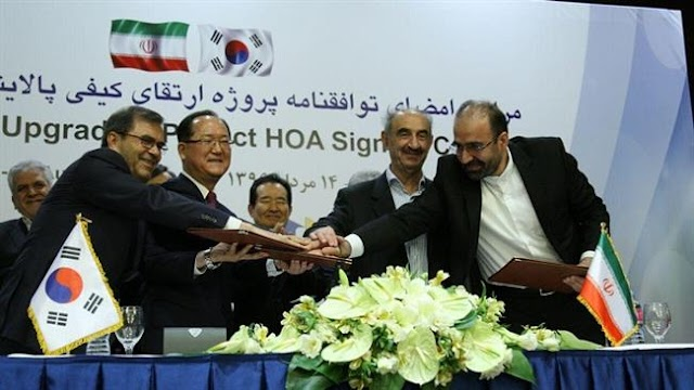 South Korea's SK Engineering and Construction Co inks €1.6 billion Iran refinery deal