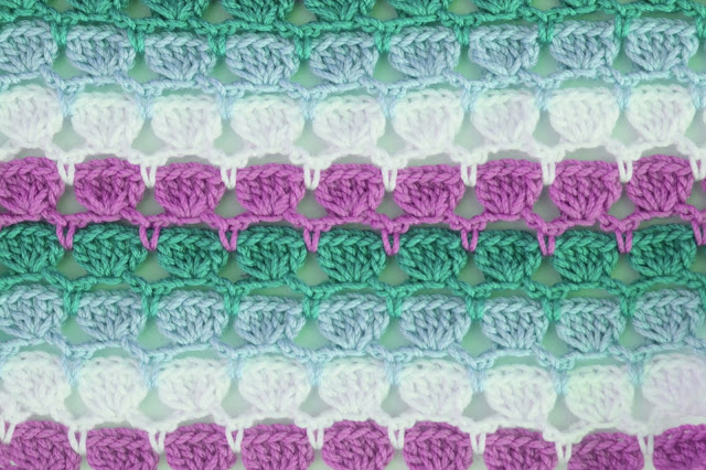 4 - Crochet Imagen Puntada de colores para blusas de verano a crochet y ganchillo por Majovel Crochet
