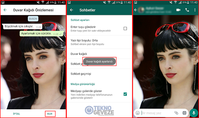 WhatsApp Arka Plan Resmi Değiştirmek