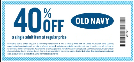 photo relating to Old Navy Printable Coupon identify Aged army coupon codes inside of shop printable : Ninja cafe nyc