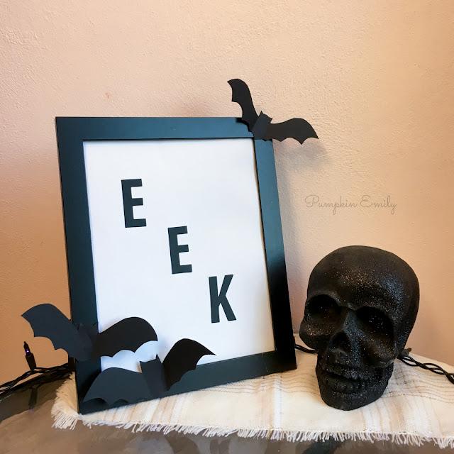 Halloween DIY Frame Art
