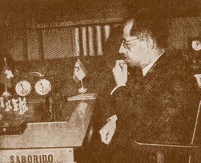 El ajedrecista Rafael Saborido en 1950