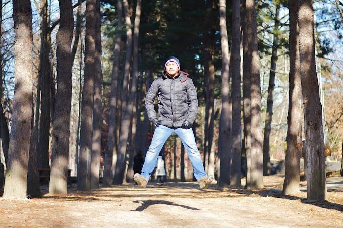 Levitation at Nami Island, Korea