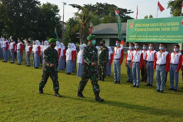 Korem 162/WB Buka Penataran Kader Bela Negara Kodam IX/Udayana Tahun 2021.